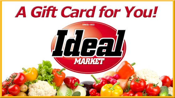 Ideal Market Gift Card Sample